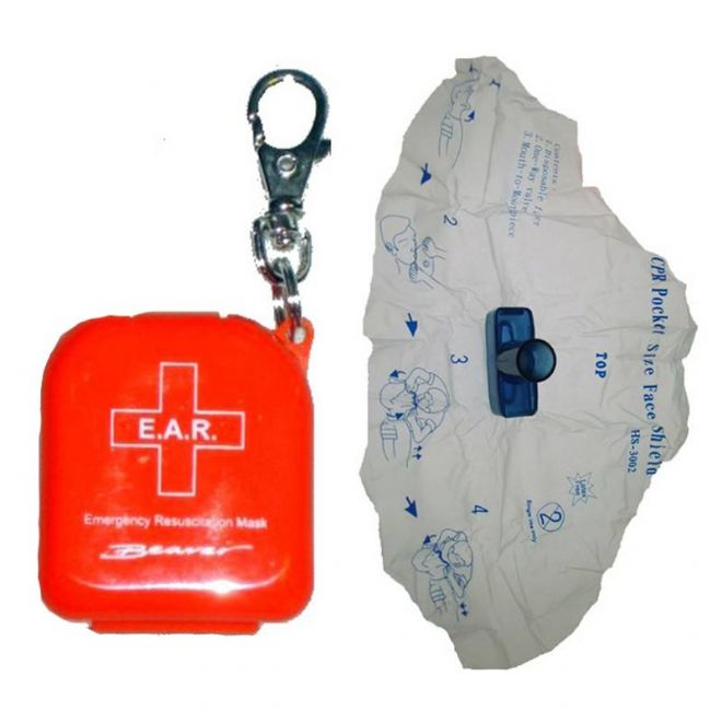 Key Ring | Mouth to Mouth Resus | Safety Face Shield